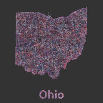 Ohio line art map