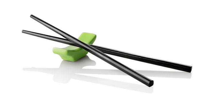 Chinese sticks on stand