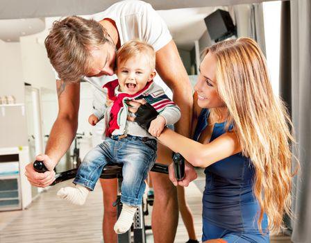 kute baby family parent care
