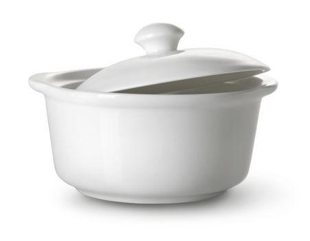 White ceramic tureen