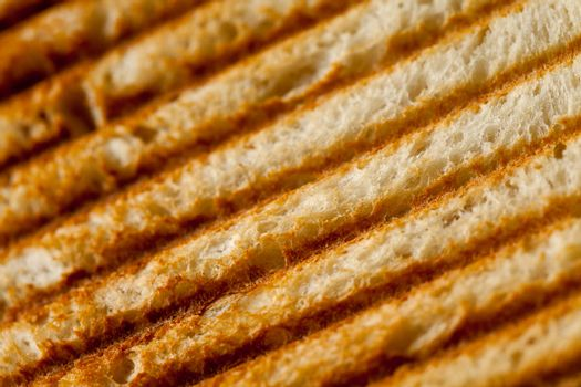 Close up of a burned french toast texture