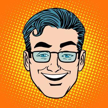 Emoji smile laughter man face icon symbol