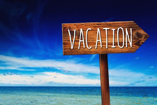 Vacation Season Direction Sign