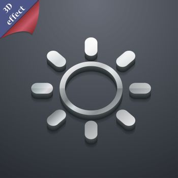 Brightness icon symbol. 3D style. Trendy, modern design with space for your text . Rastrized
