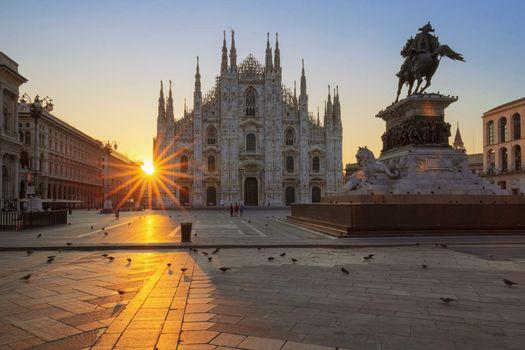 Famous Duomo at sunrise