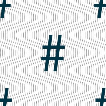 hash tag icon. Seamless pattern with geometric texture.