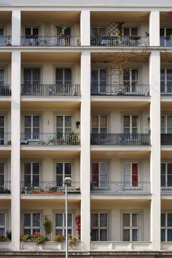 An old listed building with nostalgic balconies.