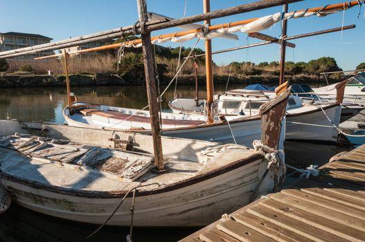 Llauts, typical boats of Mallorca