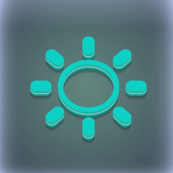 Brightness icon symbol. 3D style. Trendy, modern design with space for your text . Raster