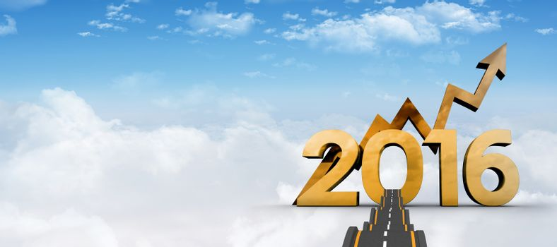 Composite image of bumpy road
