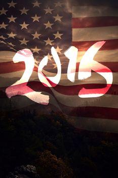 Composite image of 2015 in brush stroke