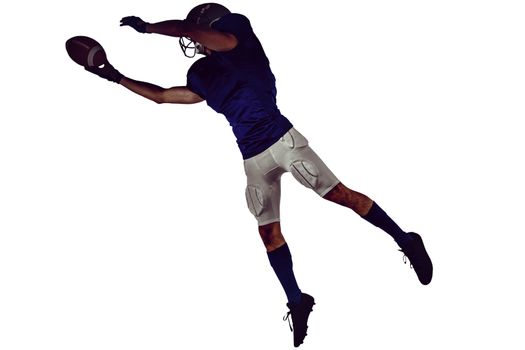 Sports player catching ball