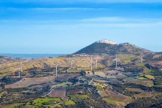 wind turbine renewable energy source on landscape