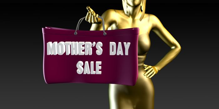 Mothers Day Sale with a Lady Holding Shopping Bags