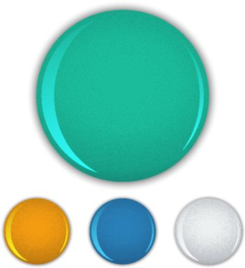 Set of colored vector chest round pin blank template