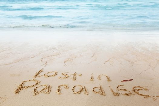 Lost in paradise concept