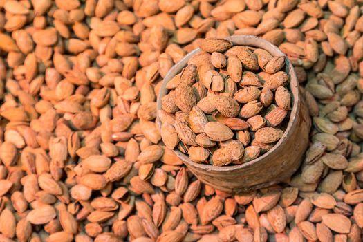Scoop of almonds.