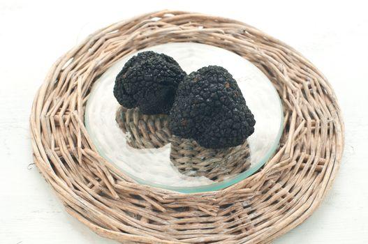 Blacks winter truffles from Umbria called scorzoni