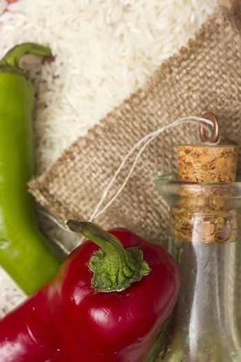 Red peppers as flavoring ingredient for hot spices
