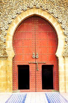historical in  antique building door morocco