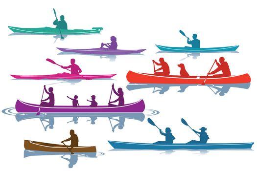 kayaking, canoeing