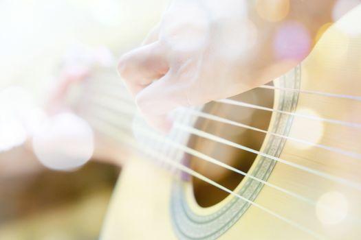 Multiple exposure of guitar