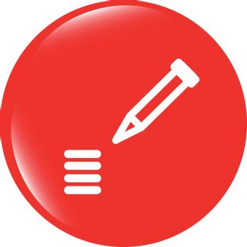 vector School Pencil Icon web icon on white background