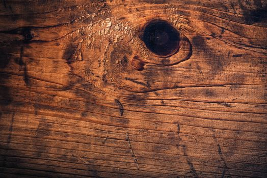 Old oak plank texture, rough grunge texture of obsolete wooden board.