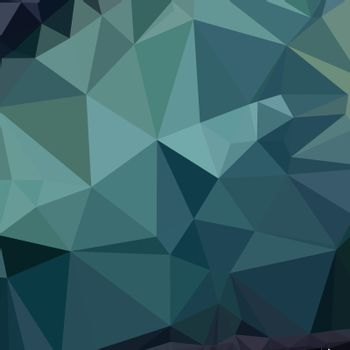 Low polygon style illustration of metallic seaweed green abstract geometric background.