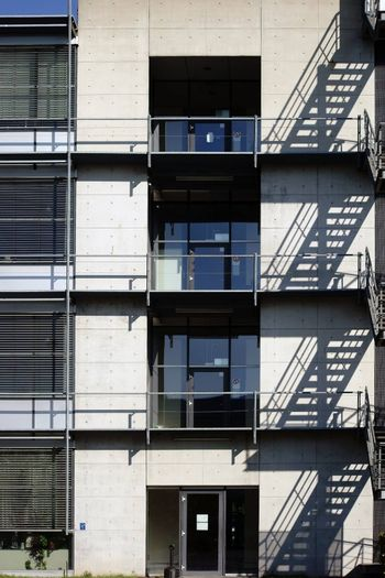 External staircase on school building
