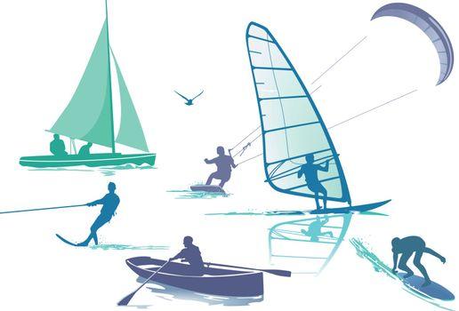 Set water sports
