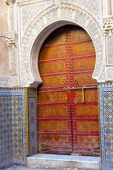 historical in  antique building door  and metal