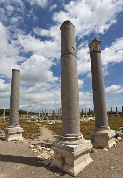 Columns at Perga in Turkey