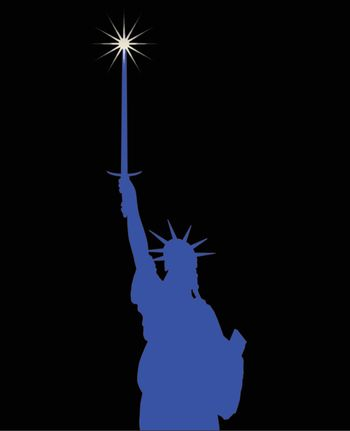 Statue Of Liberty Holding A Broadsword