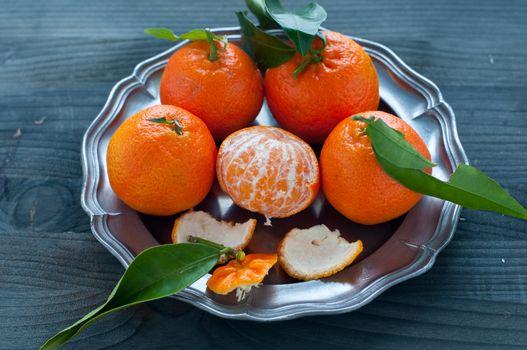 Mandarin orange fruit typical of winter