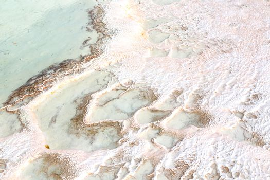 abstract in pamukkale turkey  calcium bath  water