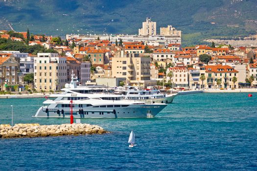 City of Split yachting waterfront