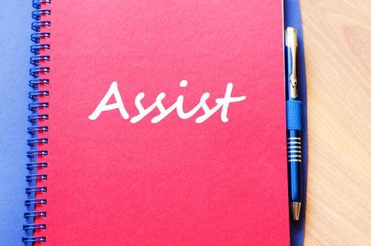 Assist write on notebook