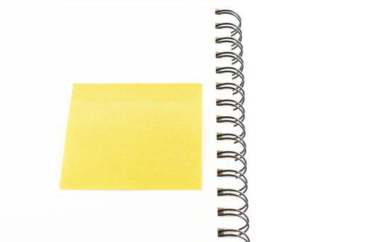 sticker note on notebook