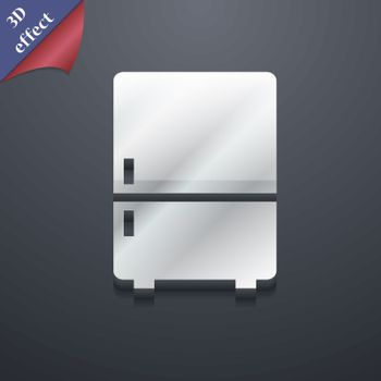 Refrigerator icon symbol. 3D style. Trendy, modern design with space for your text Vector
