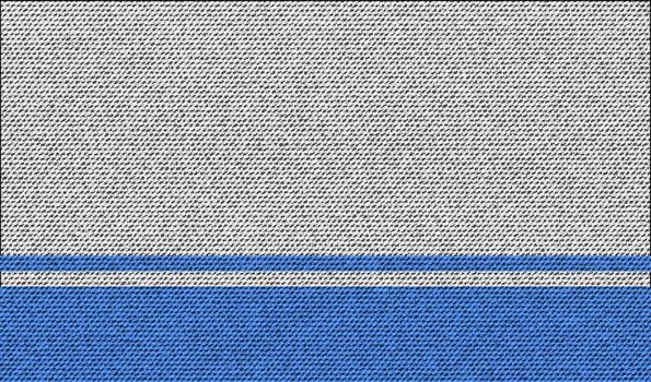 Flags Altai Republic on denim texture. Vector