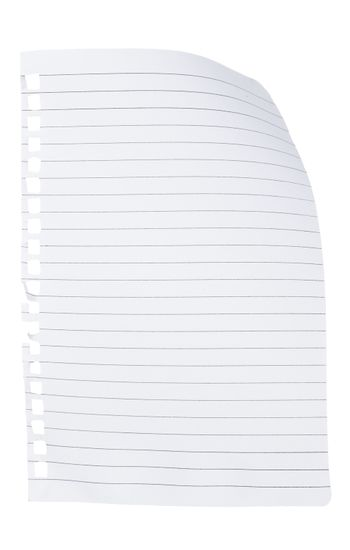 Note paper with curl