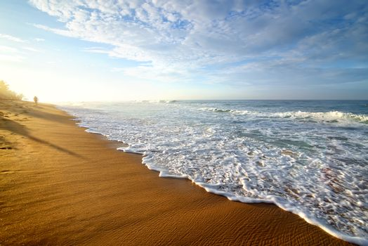 Bright morning on ocean