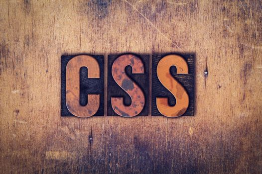 CSS Concept Wooden Letterpress Type