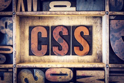 CSS Concept Letterpress Type