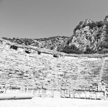 archeology theater  in  myra turkey europe old roman necropolis