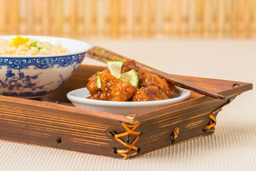 General Tao Chicken Closeup