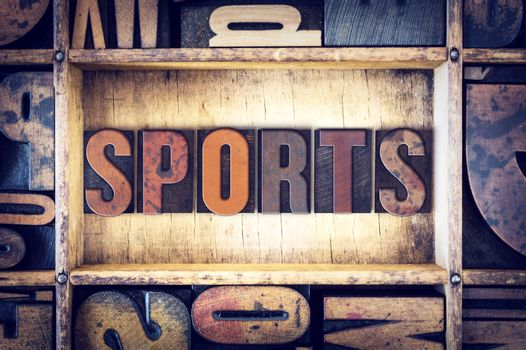 Sports Concept Letterpress Type