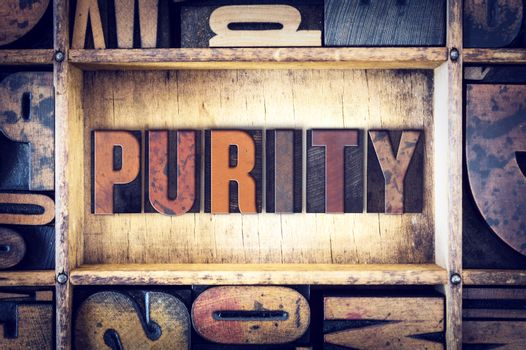 Purity Concept Letterpress Type