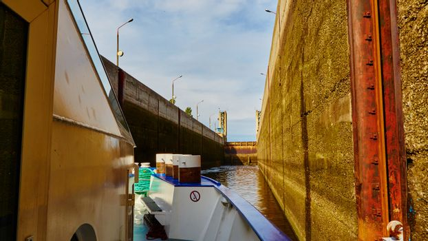 One of the locks on navigable river